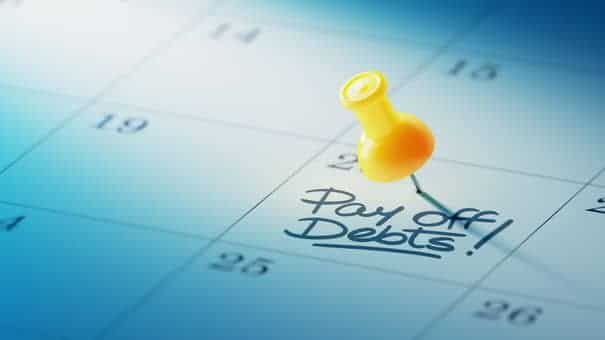 pay off debt due date for business loan repayment schedule
